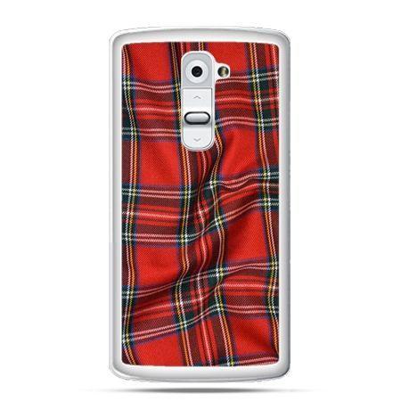 Etui na telefon LG G2 szkocka kratka