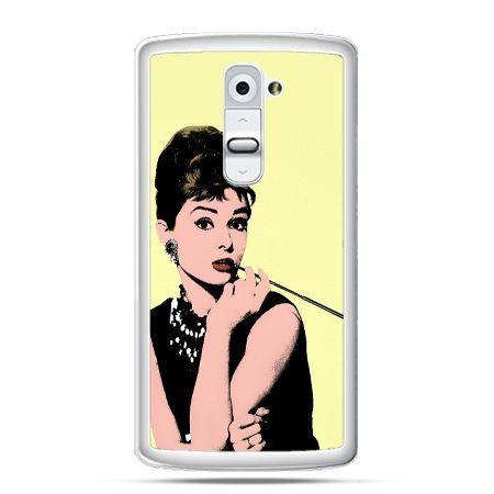 Etui na telefon LG G2 Audrey Hepburn z papierosem