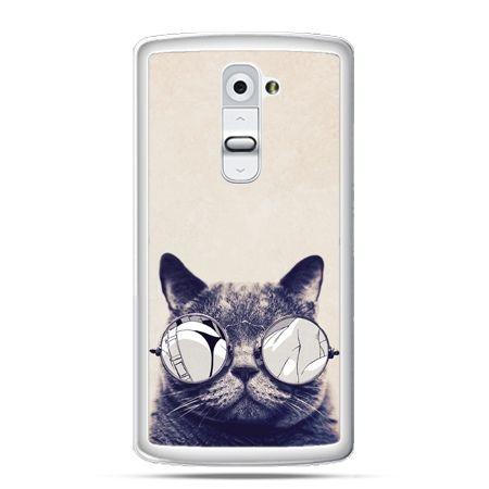 Etui na telefon LG G2 kot w okularach