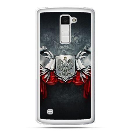 Etui na telefon LG K10 patriotyczne - stalowe godło
