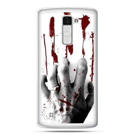 Etui na telefon LG K10 zakrwawiona ręka
