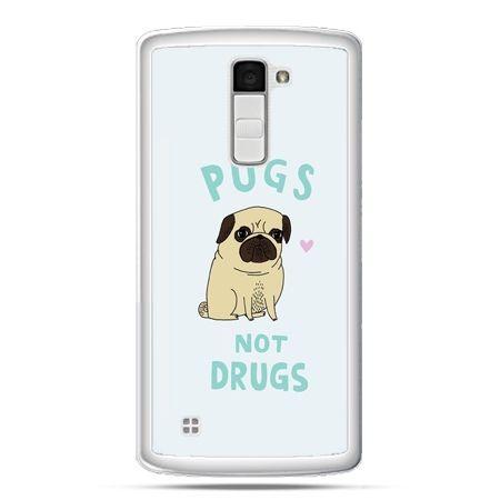 Etui na telefon LG K10 Pugs not drugs