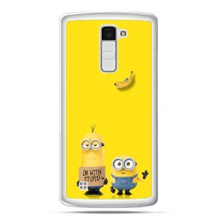 Etui na telefon LG K10 minionki i`m with stupid