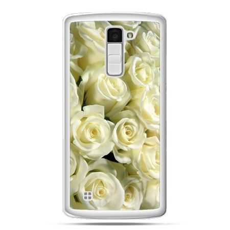 Etui na telefon LG K10 białe róże