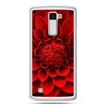 Etui na telefon LG K10 czerwona dalia