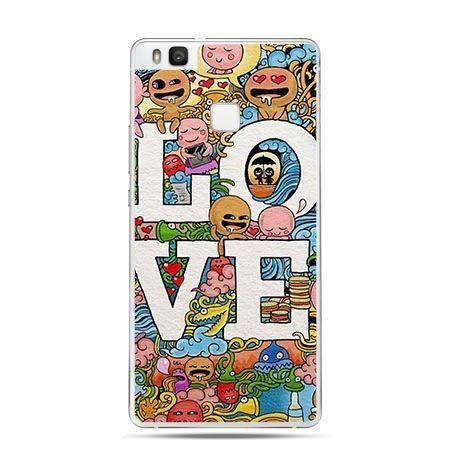 Etui na Huawei P9 Lite z napisem LOVE.