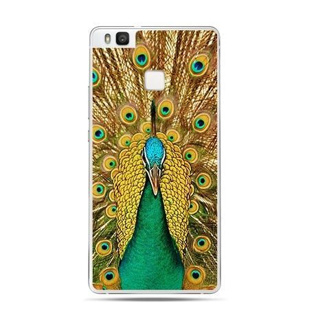 Etui na Huawei P9 Lite kolorowy ptak,  paw.