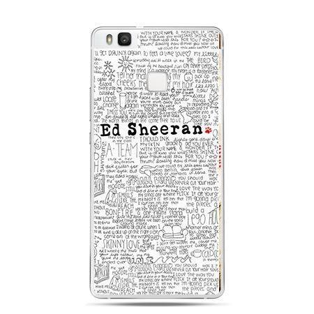 Etui na Huawei P9 Lite Ed Sheeran, jasne poziome.