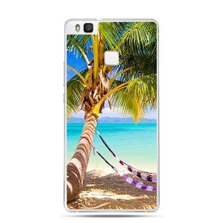 Etui na Huawei P9 Lite egzotyczna palma z hamakiem.