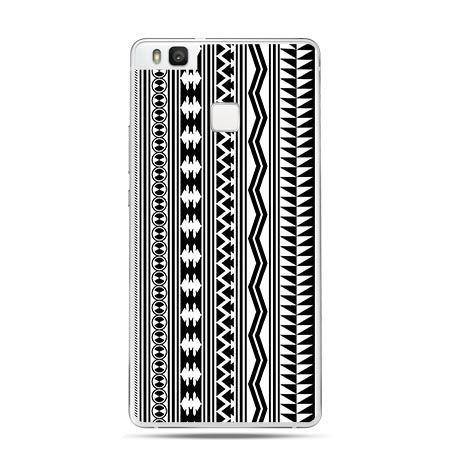 Etui na Huawei P9 Lite geometryczne czarne paski.