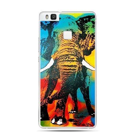 Etui na Huawei P9 Lite tęczowy słoń kolorowy.