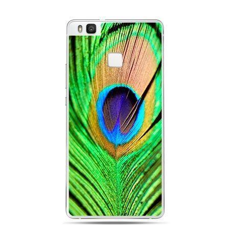 Etui na Huawei P9 Lite pawie oczko, pióro.