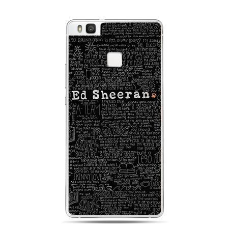 Etui na Huawei P9 Lite Ed Sheeran czarny poziomy.