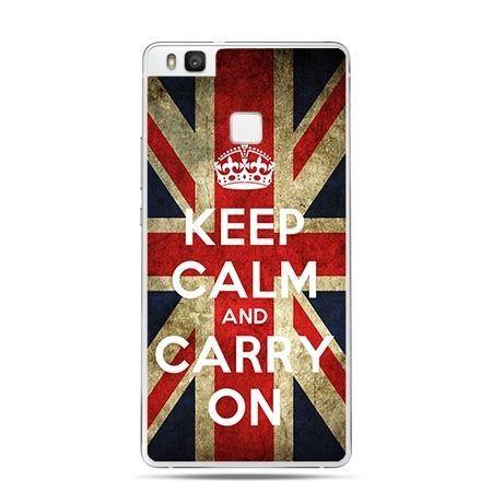Etui na Huawei P9 Lite Keep Calm and Carry On flaga UK.