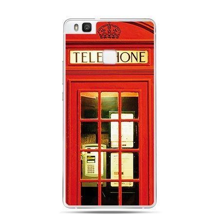 Etui na Huawei P9 Lite czerwona budka telefoniczna.