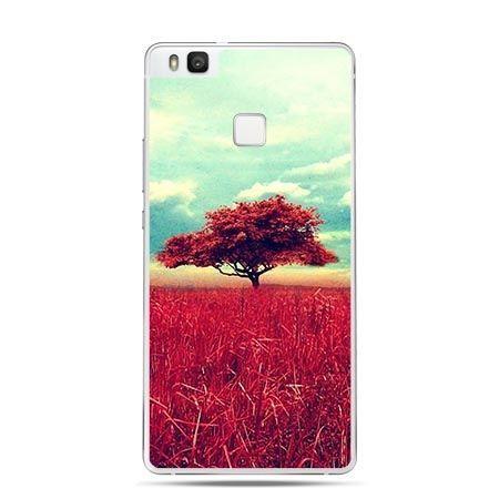 Etui na Huawei P9 Lite czerwone drzewo na łące.