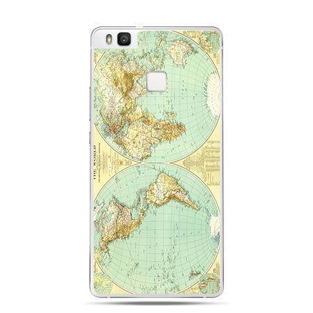 Etui na Huawei P9 Lite mapa Świata.