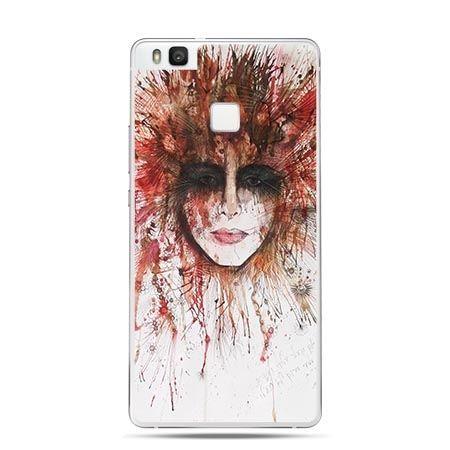 Etui na Huawei P9 Lite kolorowa twarz, obraz akwarela.