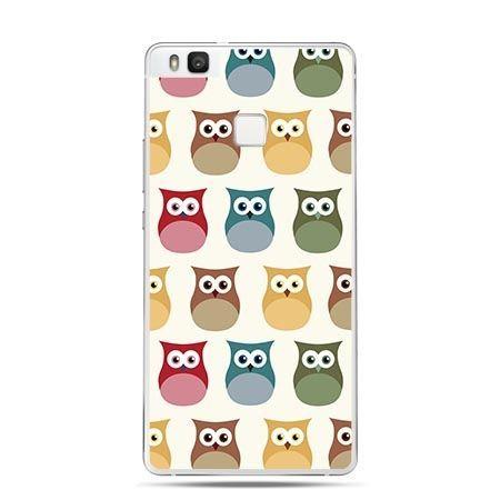 Etui na Huawei P9 Lite rysunkowe sowy kolorowe.