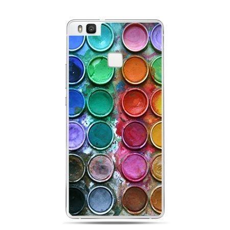 Etui na Huawei P9 Lite kolorowe farbki plakatowe.