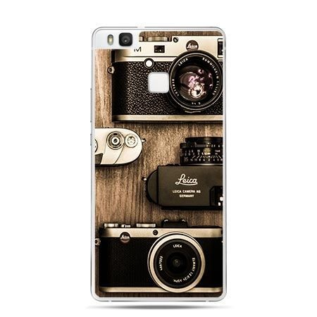 Etui na Huawei P9 Lite aparaty fotograficzne retro.