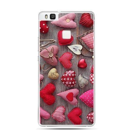 Etui na Huawei P9 Lite pluszowe serca kolorowe.