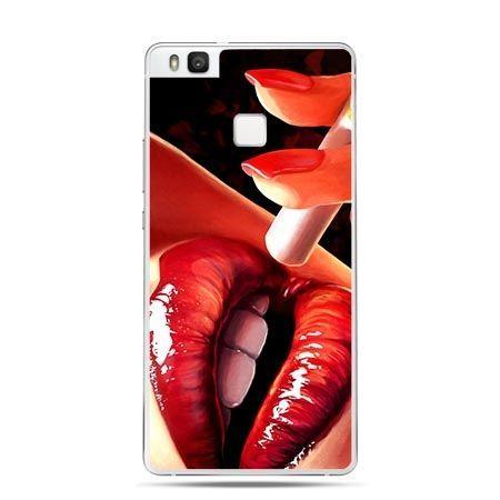 Etui na Huawei P9 Lite papieros w ustach.