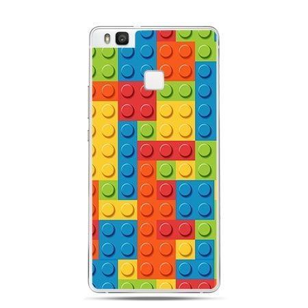 Etui na Huawei P9 Lite klocki lego kolorowe.