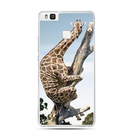 Etui na Huawei P9 Lite śmieszna żyrafa.