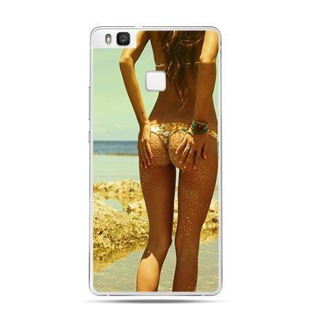Etui na Huawei P9 Lite kobieta pośladki na plaży.