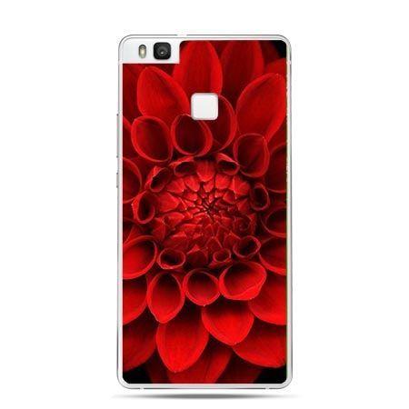 Etui na Huawei P9 Lite czerwona dalia, kwiat.