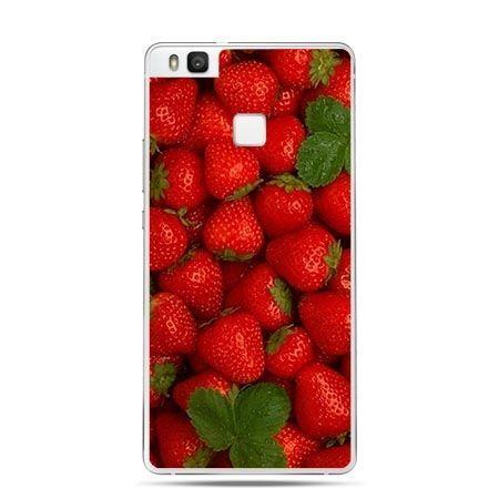Etui na Huawei P9 Lite czerwone truskawki.