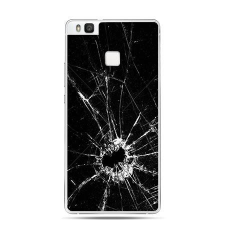 Etui na Huawei P9 Lite rozbita szyba , czarna.