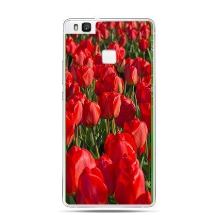 Etui na Huawei P9 Lite czerwone tulipany.