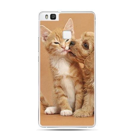Etui na Huawei P9 Lite jak pies i kot.