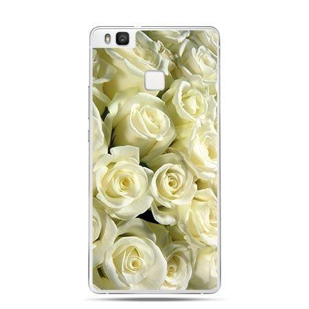 Etui na Huawei P9 Lite białe róże.