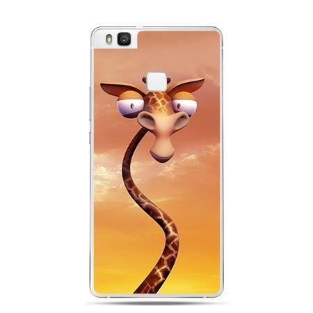 Etui na Huawei P9 Lite pokręcona żyrafa.