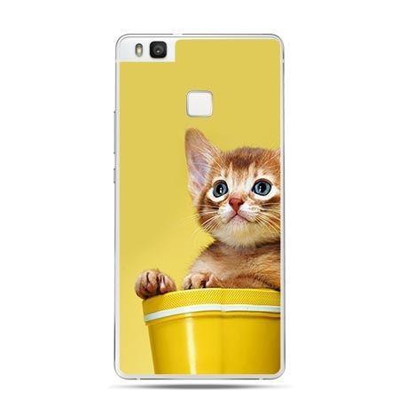 Etui na Huawei P9 Lite kotek w doniczce.
