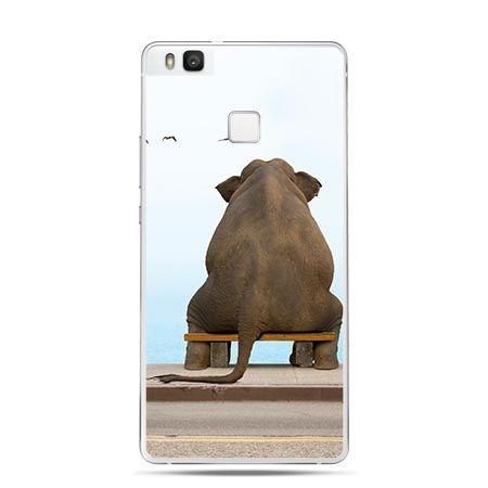 Etui na Huawei P9 Lite siedzący słoń.