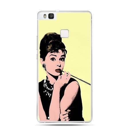 Etui na Huawei P9 Lite Audrey Hepburn z papierosem.