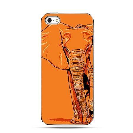 Etui na iPhone 4s / 4 - słoń pomarańczowy