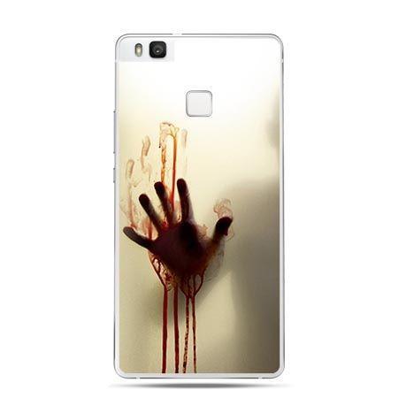 Etui na Huawei P9 Lite krwawa ręka za szkłem.