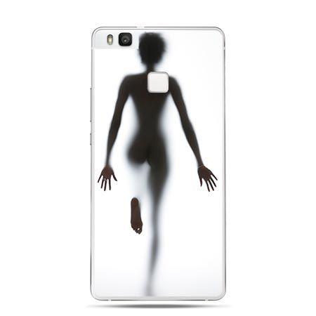 Etui na Huawei P9 Lite kobieta za szybą.