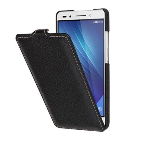 Etui na Huawei Honor 7 Stilgut SlimCase skórzane z klapką czarne.