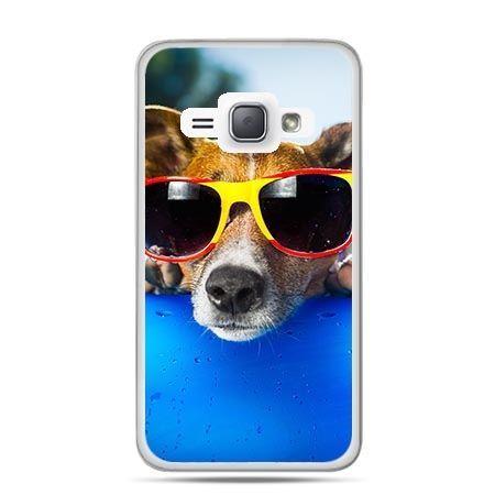 Etui na Galaxy J1 (2016r) Pies w Kolorowych Okularach.