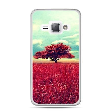 Etui na Galaxy J1 (2016r) Czerwone Drzewo.