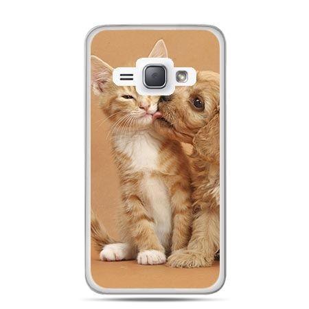 Etui na Galaxy J1 (2016r) Jak Pies z Kotem.