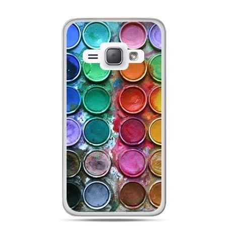 Etui na Galaxy J1 (2016r) Kolorowe Farbki.