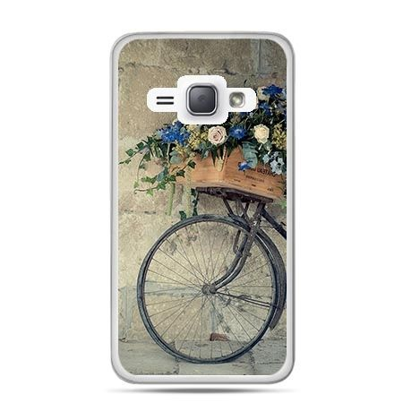 Etui na Galaxy J1 (2016r) Rower z Kwiatami.