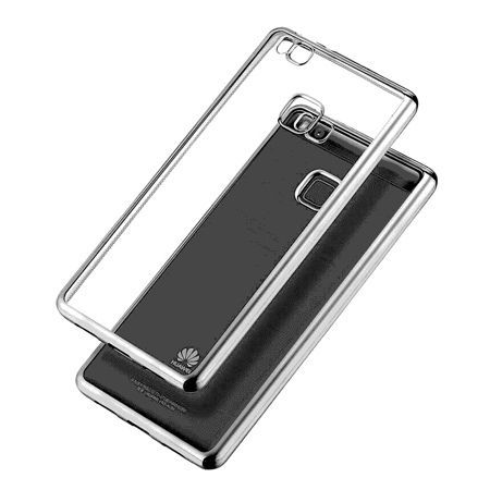 Huawei P9 Lite etui silikonowe platynowane SLIM tpu srebrne.